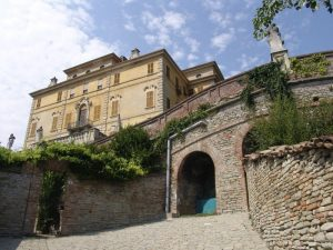 Gancia Castle in Canelli, Asti, Italy