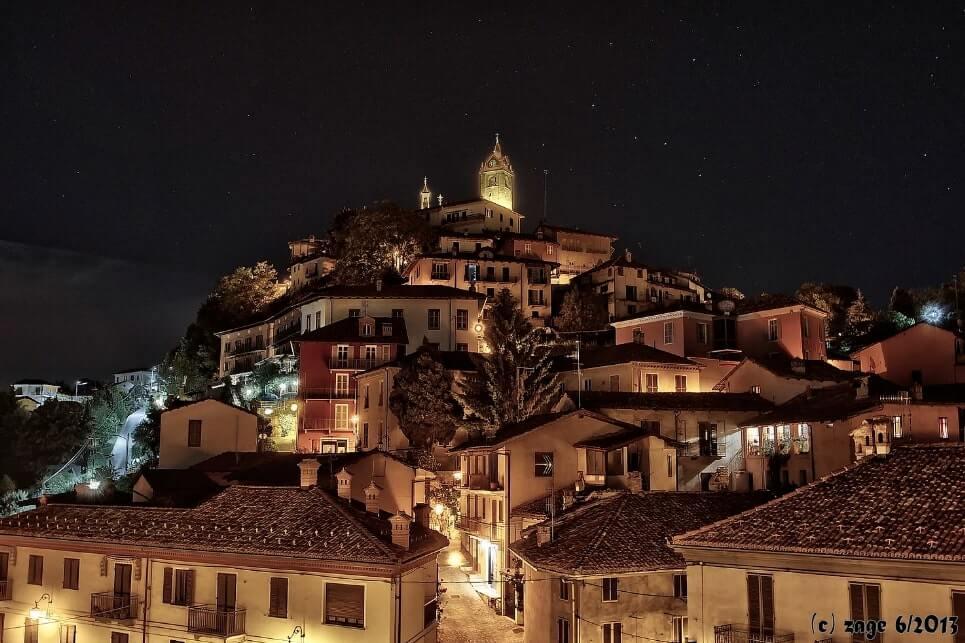 Monforte D'Alba night time