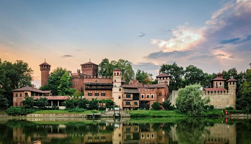 Valentino Castle and the Medieval Village turin