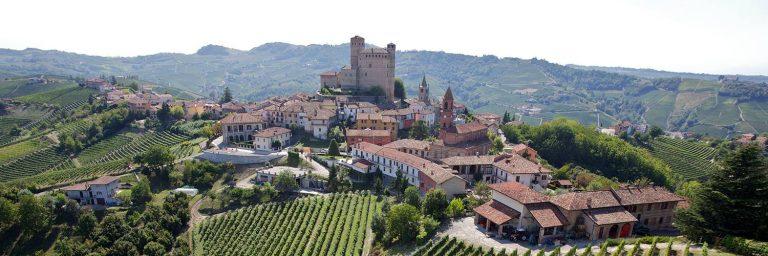 serralunga alba castle landscape