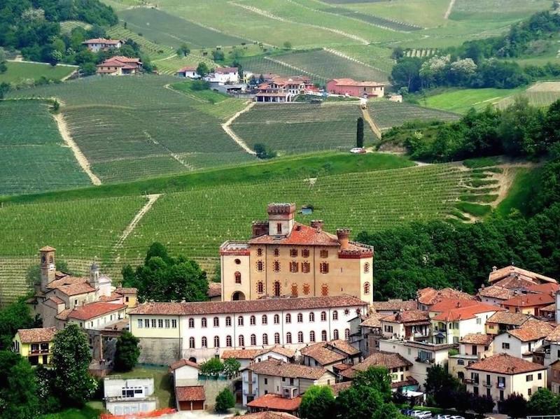 Barolo castle landscape
