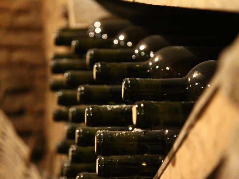 Bottles in cellar