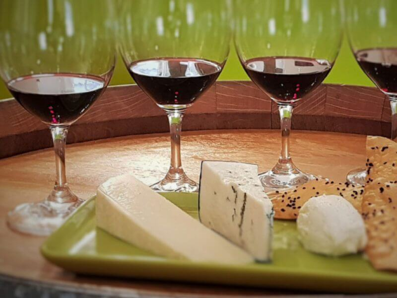 Brbera Wine Tasting with cheese