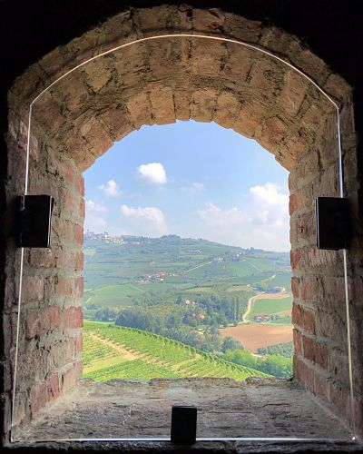 Point of view from Grinzane Cavour Castle