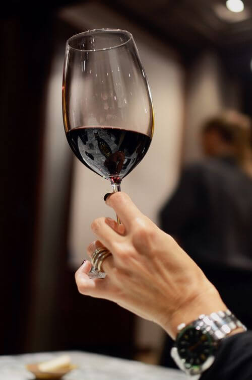 Red wine glass Luxury tasting