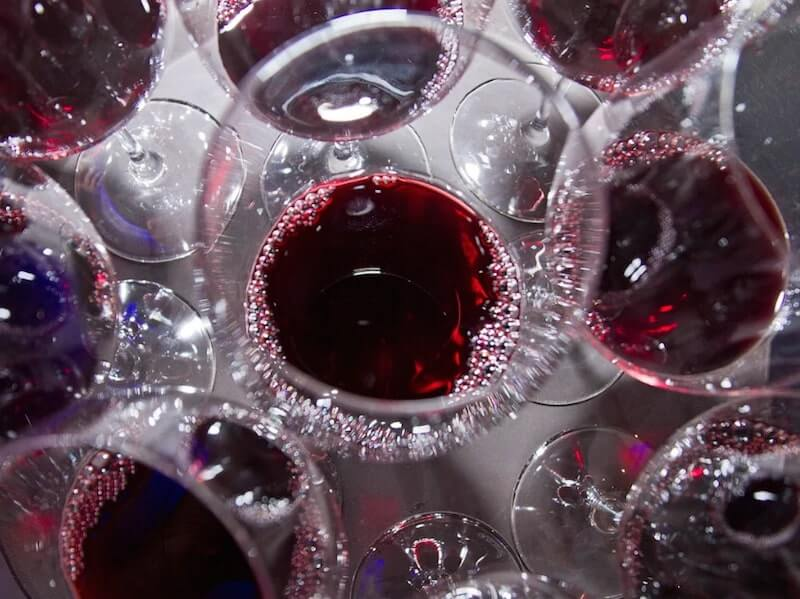 glass of piedmont red wine