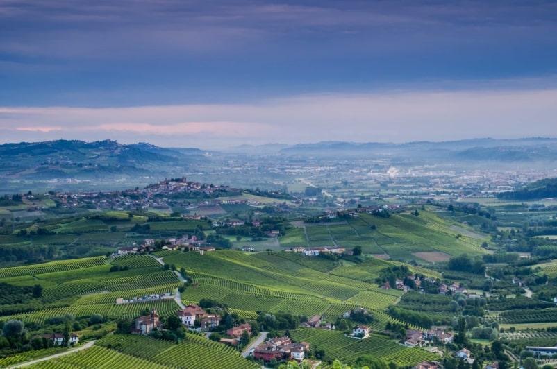 landscape from roddi, alba