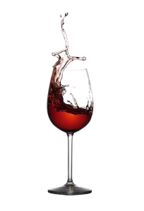 Red wine in glass vector
