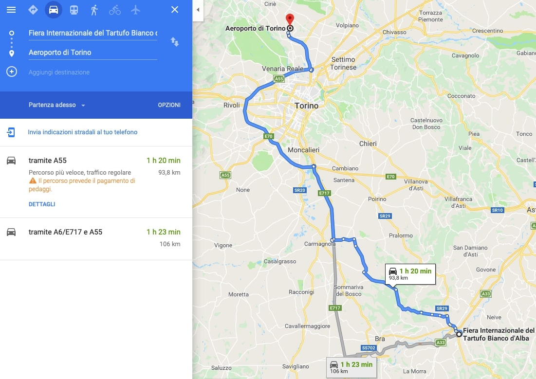 map transportation turin alba
