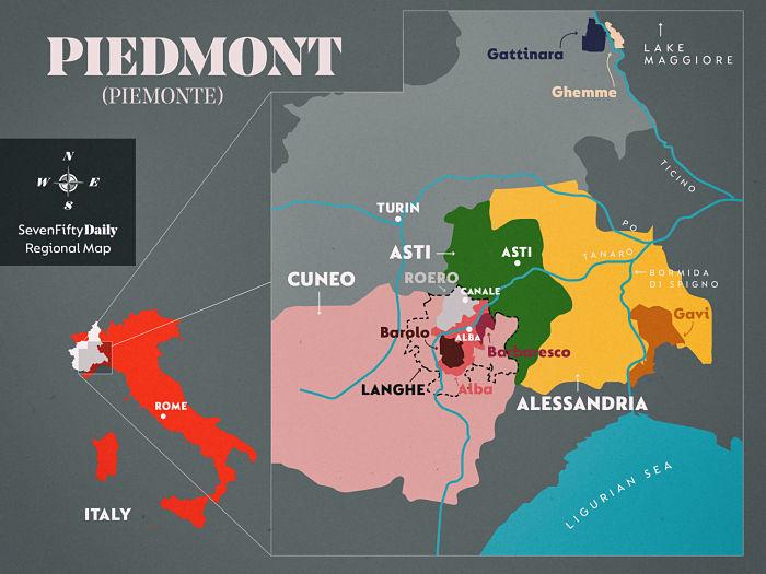 piedmont region map