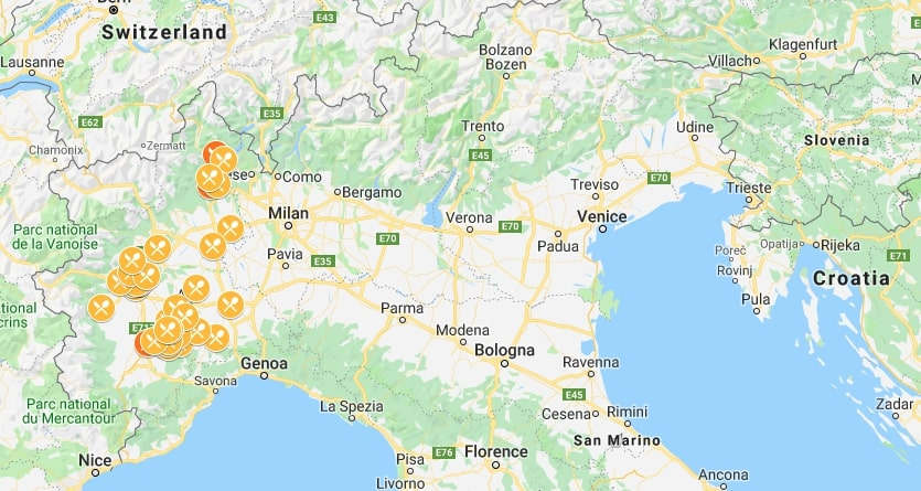 Piedmont Michelin starred restaurants