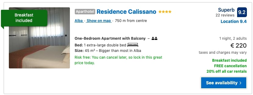 residence calissano